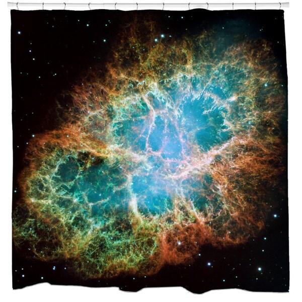 Sharp Shirter Crab Nebula Shower Curtain