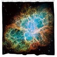 Sharp Shirter Crab Nebula Shower Curtain