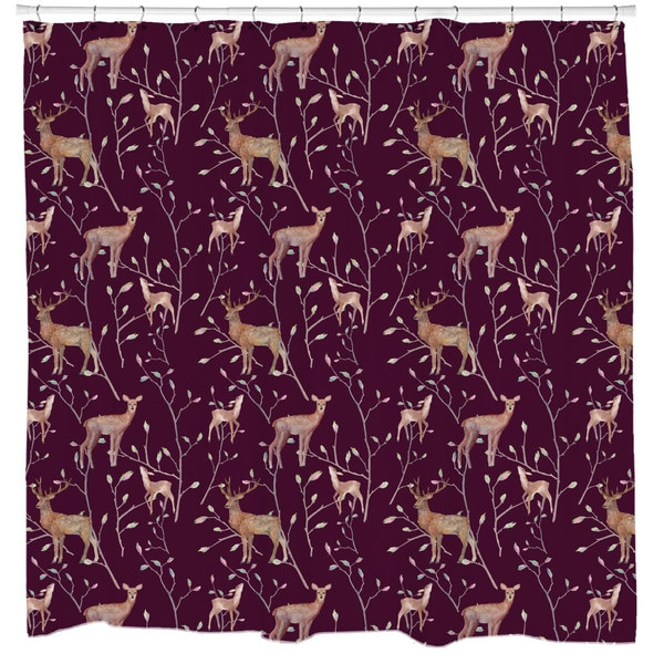 Sharp Shirter Deer Friends Shower Curtain