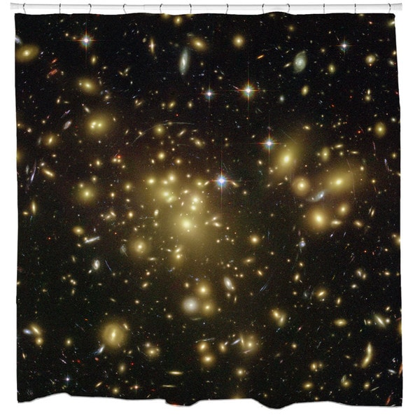 Sharp Shirter Distant Galaxies Shower Curtain