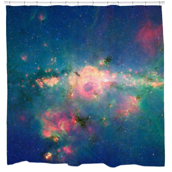 Sharp Shirter Downtown Milky Way Shower Curtain