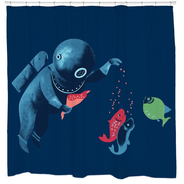 Sharp Shirter Feeding Friend-zy Shower Curtain