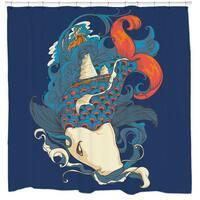Sharp Shirter Fish and Ships Shower Curtain