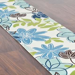 Monaco Breeze Blue Cotton 12.5-inch x 72-inch Table Runner