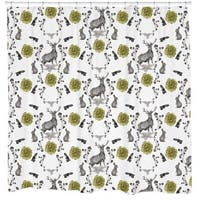 Sharp Shirter Forest Friends/ Deer and Rabbit Shower Curtain