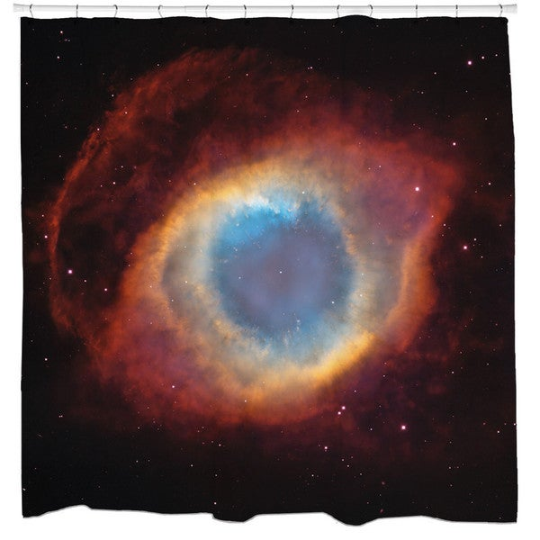 Sharp Shirter Helix Nebula Galaxy Shower Curtain
