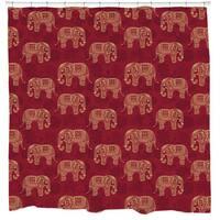 Sharp Shirter Henna Elephants Shower Curtain