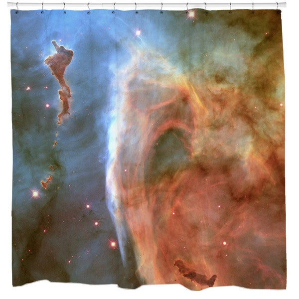 Sharp Shirter Keyhole Nebula Shower Curtain