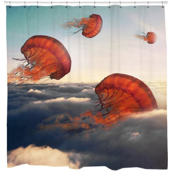 Sharp Shirter Jelly Clouds Shower Curtain