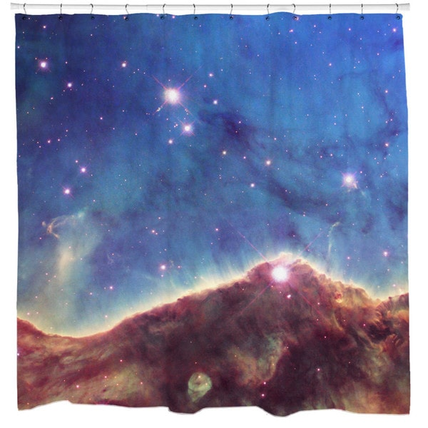 Sharp Shirter Landscape of The Cosmos Shower Curtain