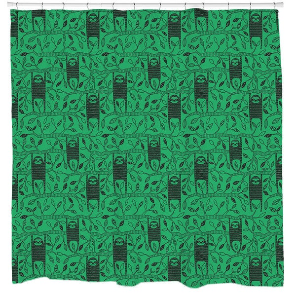 Sharp Shirter Let's Hang. Sloth Shower Curtain