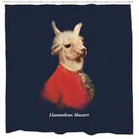 Sharp Shirter Llamadeus Mozart Shower Curtain