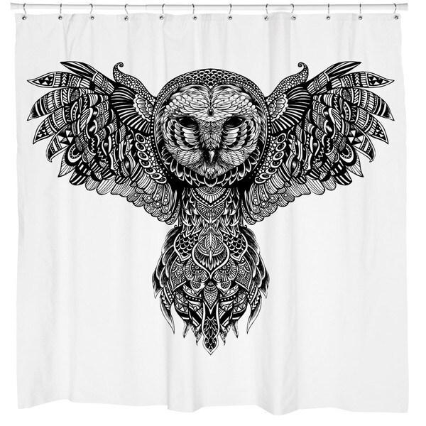 Sharp Shirter Majestic Owl Shower Curtain