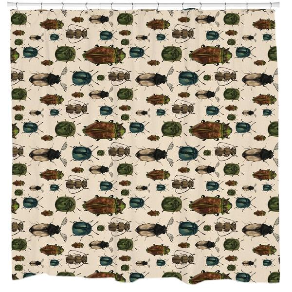 Sharp Shirter March of The Beetles Shower Curtain
