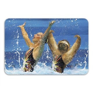 Sharp Shirter Synchronized Sloth Memory Foam Bath Mat