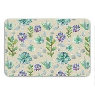 Sharp Shirter Succulent Pattern Memory Foam Bath Mat