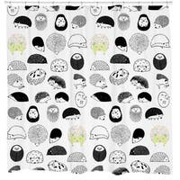 Sharp Shirter 20 Hedgehogs Shower Curtain