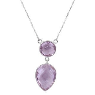 Orchid Jewelry 925 Sterling Silver 12 1/3ct Amethyst Gemstone Necklace