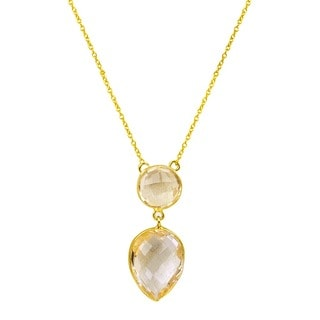Orchid Jewelry 14k Gold Over 925 Sterling Silver 9 7/10ct Citrine Gemstone Necklace