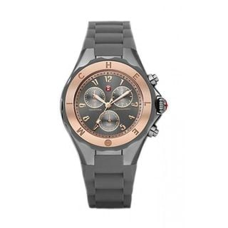 Michele Women's MWW12F000064 'Tahitian Jelly Bean Large' Chronograph Grey Silicone Watch