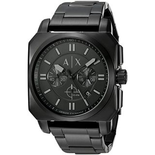 Armani Exchange Men's AX1651 'Takedown' Chronograph Black Stainless Steel Watch