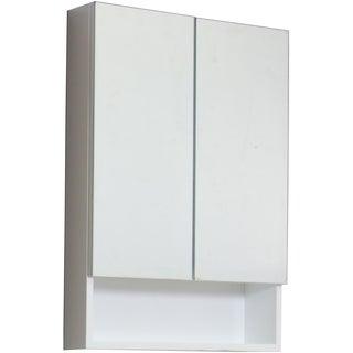 24-in. W x 35.5-in. H Modern Plywood-Veneer Medicine Cabinet In White
