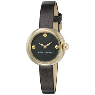 Marc Jacobs Women's MJ1432 'Courtney' Black Leather Watch