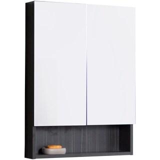 24-in. W x 32-in. H Modern Plywood-Melamine Medicine Cabinet In Dawn Grey - Dawn Grey