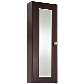 12-in. W x 36-in. H Transitional Cherry Wood-Veneer Medicine Cabinet In Coffee