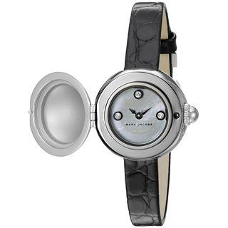 Marc Jacobs Women's MJ1435 'Courtney' Black Leather Watch