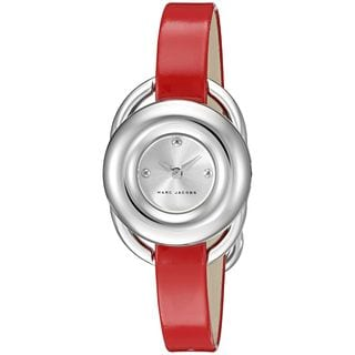 Marc Jacobs Women's MJ1444 'Jerrie' Red Leather Watch