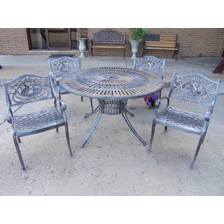 Havenside Home Maryus Bronze Aluminum/Steel 5-piece Outdoor Dining Set
