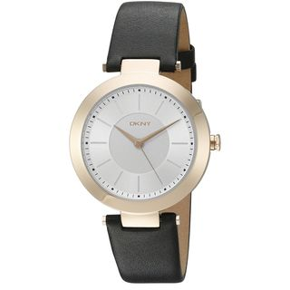 DKNY Women's NY2468 'Stanhope' Black Leather Watch