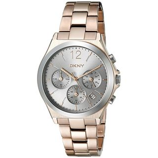 DKNY Women's NY2453 'Parsons' Chronograph Rose-Tone Stainless Steel Watch