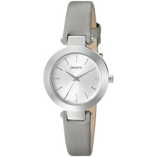 DKNY Women's NY2456 'Stanhope' Grey Leather Watch