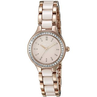 DKNY Women's NY2467 'Chambers' Crystal Two-Tone Stainless steel and Ceramic Watch