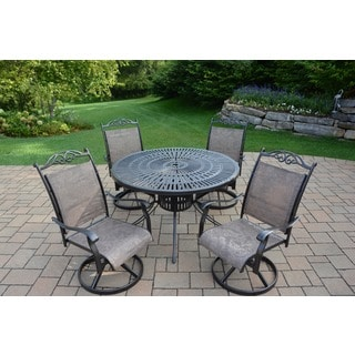 Oakland Living Radiance Aluminum 5-piece Dining Set