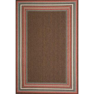Christopher Knight Home Roxanne Harriet Indoor/Outdoor Brown Rug (5' x 8')