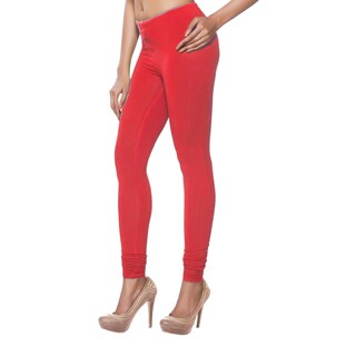 In-Sattva Women's Indian Solid Red Leggings