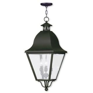 Livex Lighting Amwell Bronze 4-light Outdoor Chain Lantern