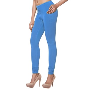 In-Sattva Women's Indian Solid Light Blue Leggings