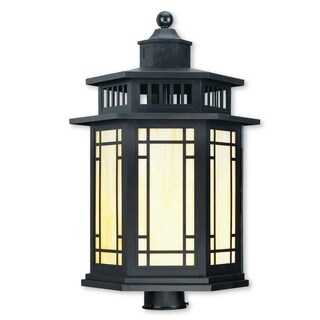 Livex Lighting Mirror Lake Bronze 1-light Outdoor Post Lantern