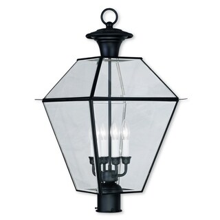 Livex Lighting Westover Black 4-light Outdoor Post Lantern