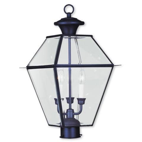 Livex Lighting Westover Bronze Brass 3-light Outdoor Post Lantern