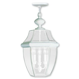 Livex Lighting Monterey White 3-light Outdoor Chain Lantern