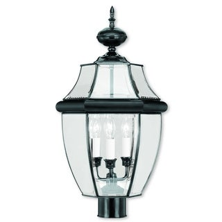 Livex Lighting Monterey Black 3-light Outdoor Post Lantern