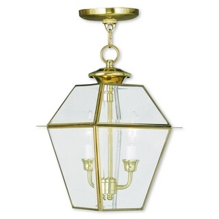 Livex Lighting Westover Polished Brass 2-light Outdoor Chain Lantern
