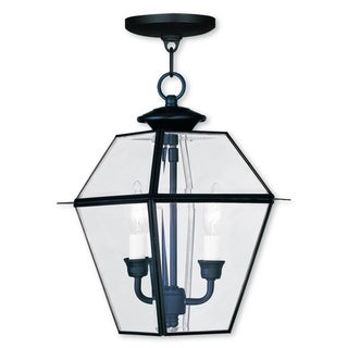 Livex Lighting Westover Black Brass 2-light Outdoor Chain Lantern