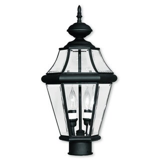 Livex Lighting Georgetown Black 2-light Outdoor Post Lantern