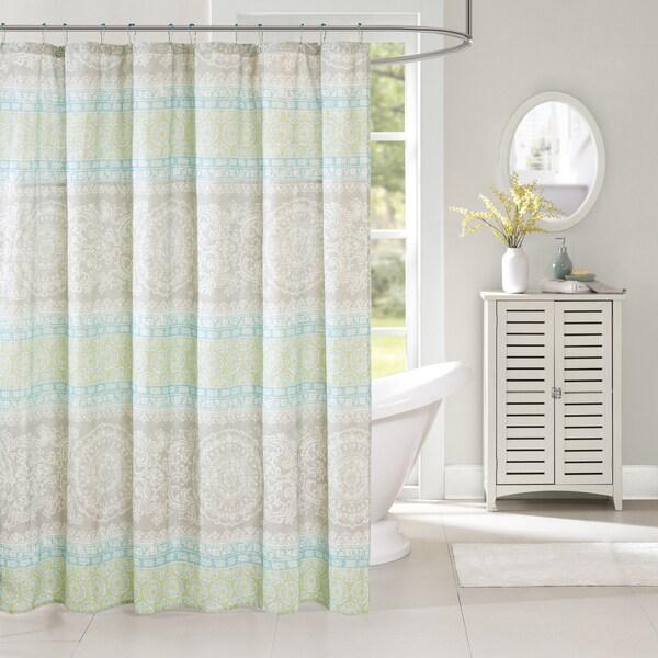 Harbor House Adeline Multi Cotton Printed Shower Curtain